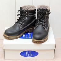 Ботинки зимние Vito (Финляндия), на 37 р-р (маркировка 38), унисекс, темно-синие, на самую суровую зиму.