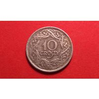 10 грош 1923. Никель. Польша.