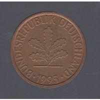2 пфеннига Германия (ФРГ) 1995 J_Лот 1434