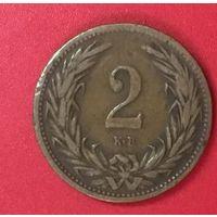 Венгрия 2 филлера геллера 1906