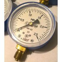 Манометр МП-63. Кислород. 2,5 МПа. Манометр избыточного давления показывающий. Кислородный