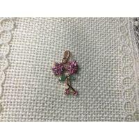 Кулон Розовый сапфир Серебро