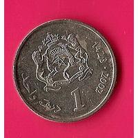 37-44 Марокко, 1 дирхам 2002 г.