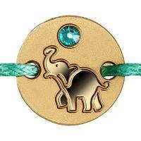 """Ниуэ 5 долларов 2016г. Браслет: """"Слонёнок"""". Монета в подарочном футляре; сертификат; коробка. ЗОЛОТО 1гр."""