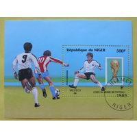 Нигер. Футбол. ( Блок ) 1986 года.