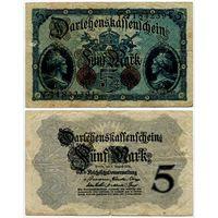 Германия. 5 марок (образца 1914 года, P47c)