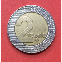 Грузия, 2 лари 2006г., биметалл