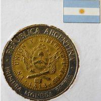 Республика Аргентина 1 песо 1995 год