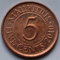 Маврикий, 5 центов 2010 г