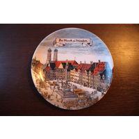 Коллекционная тарелка Schrobenhausen, клеймо. Германия