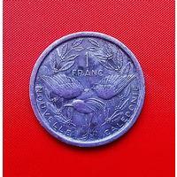 39-14 Новая Каледония 1 франк 1977 г. Единственное предложение  монеты данного года на АУ