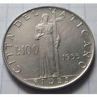 Ватикан 100 лир, 1955         ( 6-2-2 )