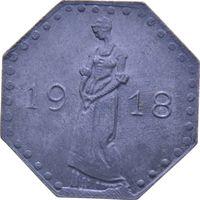 РАСПРОДАЖА!!! - ГЕРМАНИЯ ХАЙЛЬБРОНН 50 пфеннигов 1918 год - aUNC!