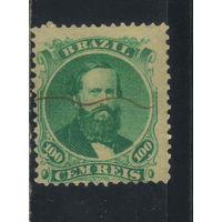 Бразилия Имп 1866 Педро II Стандарт #27