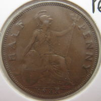 Великобритания 1/2 пенни 1933 г. В холдере