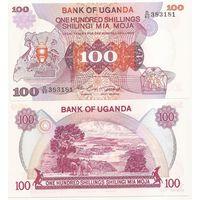 Уганда 100 шиллингов образца 1982 года UNC p19b