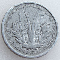 Французская Экваториальная Африка, 1 франк 1948 года, KM#6