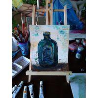 Картина маслом Бутылка