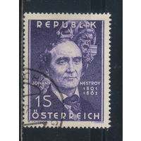 Австрия Респ 1961 Йоганн Непомук Нестрой 100-летие смерти #1109