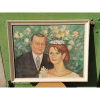 Живопись на холсте, масло. Свадьба. Известный художник Вера  Юркова