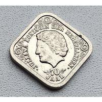 Нидерланды 5 центов, 1979 70 лет со дня рождения Королевы Юлианы 3-14-38