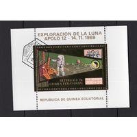 G1 - 1 шт. - ЗОЛОТО - Экваториальная Гвинея - CTO - Космос - США - Аполлон 12