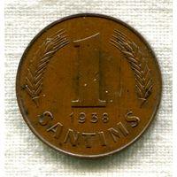 Латвия 1 сантим 1938 г.