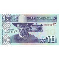 Намиби  10 долларов 1993 UNC