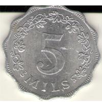Мальта: 5 милс 1972 г.