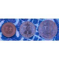 Тайвань 1, 5, 10 долларов. UNC. Инвестируй в монеты планеты!