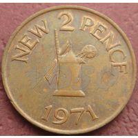 4332:  2 пенса 1971 Гернси