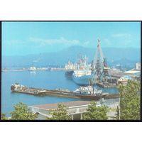 ДМПК СССР 1980 Батуми морской порт корабли