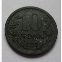Германия. 10 пфеннигов 1917г.Цинк.BONN.