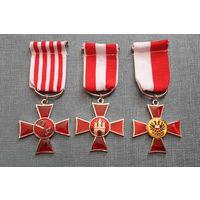 Пруссия . Ганзейский Крест - медаль из городов: Бремен, Гамбурга и L & uuml; Бек. 3шт.  копия. распродажа