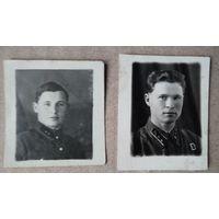 2 фото лейтенантов. 1939 г. 3.5х4 см.Цена за оба.