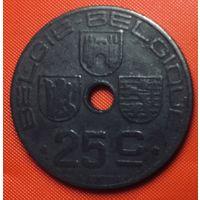 25-26 Бельгия, 25 сантимов 1946 г. (Фламандский тип)
