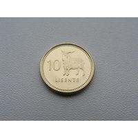 "Лесото. 10 лисенте 1998 год  KM#63   ""Коза - Животные - Фауна"""