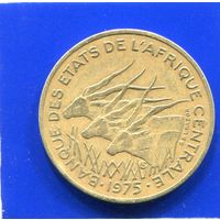 Центральная Африка 25 франков 1975 , Антилопы Канна