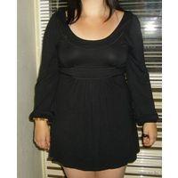 Платье-туника черное, легкое, р-р 46-48