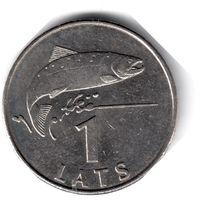Латвия. 1 лат. 2008 г.