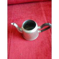 Чайник, заварник мельхиор Кольчугино нет крышки