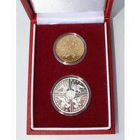 10, 2 злотых 2000, Польша, Великий Юбилей 2000 Года. Серебро, оригинальный футляр на 2 монеты