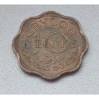 Цейлон 10 центов, 1944 6-5-23