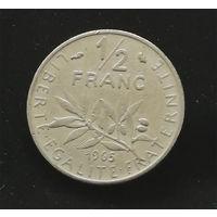 1/2 франка 1965 Франция #02