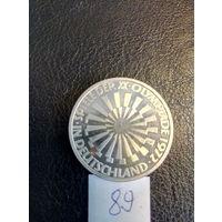 10 марок ФРГ серебро 0,625 1972 года. XX Летние Олимпийские игры 1972 года в Мюнхене. 89.