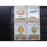 ЦАР 1983 Воздушные шары Полная серия Михель-3,5 евро гаш