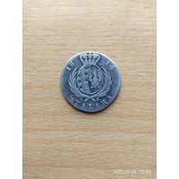 Великое Герцогство Варшавское, герцог Фридрих-Август I, 1/3 талера - 2 злотых 1814 г.  Редкая монета!