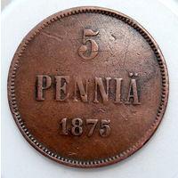 5 пенни 1875