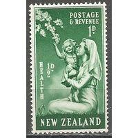 Новая Зеландия. Здоровье детей. Медсестра с ребёнком. 1949г. Mi#307.