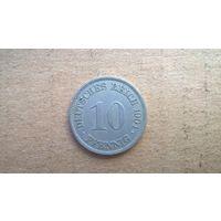 """Германская империя 10 пфеннигов, 1901""""А"""" (D-21)"""